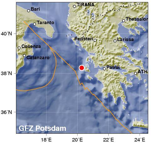 Forte terremoto sulla costa Ionio della Grecia