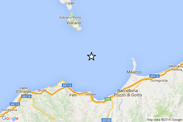 Terremoto in Sicilia. Tra le Eolie e Messina