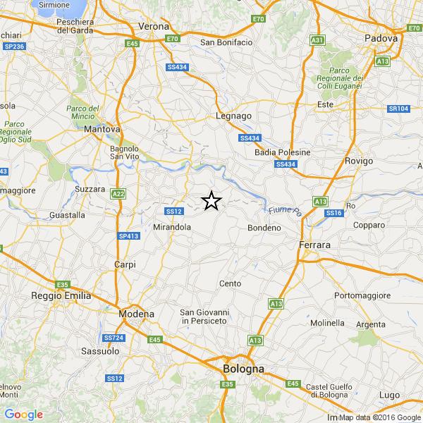 Forte terremoto scuote provincia di Mantova