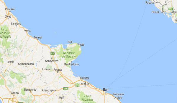 Puglia: terremoto spaventa tra Gargano e Croazia