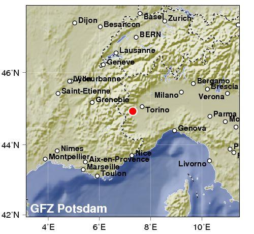 Due scosse di terremoto vicino Torino: 4.0