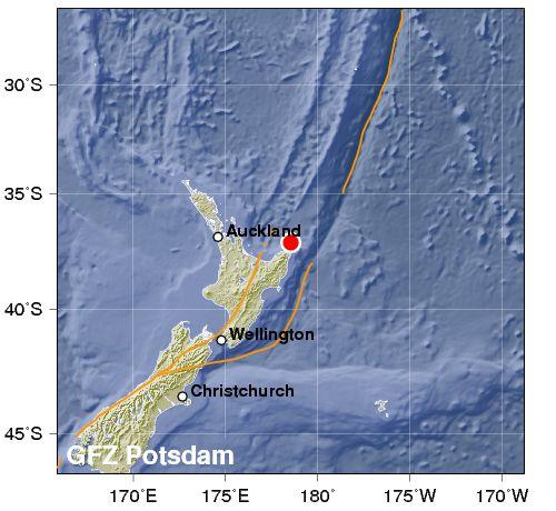 Pericolo tsunami per forte terremoto in Nuova Zelanda
