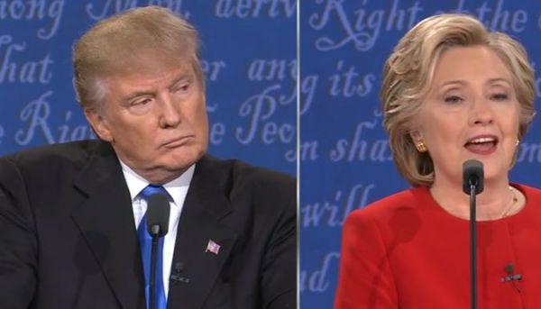 """Hillary """" straccia"""" Trump in tv"""