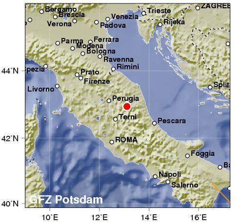 Violento terremoto Macerata 5.4. Crolli a Visso