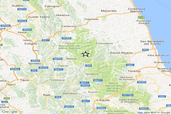 Terremoto: terra trema di nuovo ad Ascoli Piceno