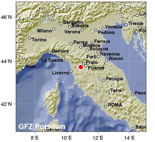 Terremoto in Toscana: scossa avvertita anche in provincia di Lucca