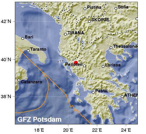 Terremoto in Grecia, magnitudo 5,5