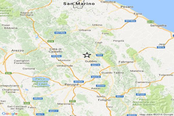 Terremoto: scosse a Rieti, Amatrice e Gubbio