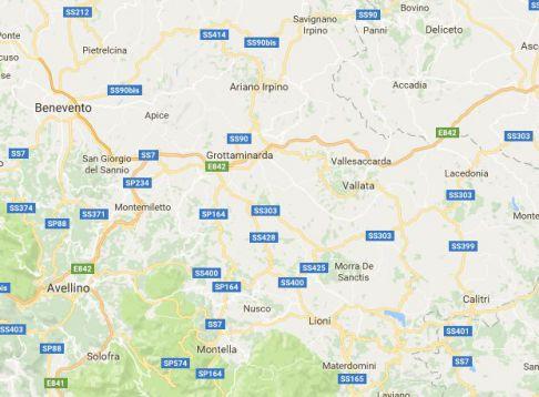 Terremoto oggi, Avellino: rilevata dall'INGV scossa di magnitudo 3.1