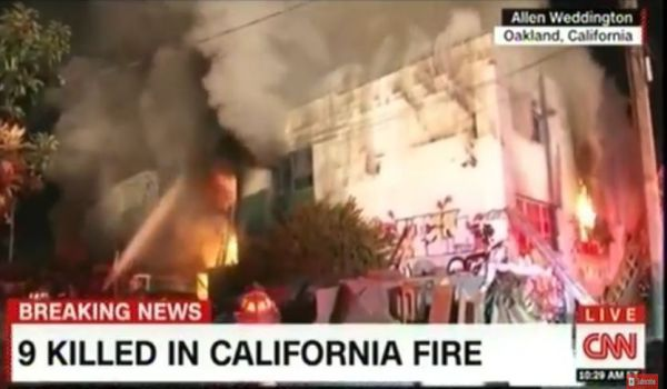 Usa: incendio rave party Oakland, decine di morti e 25 dispersi