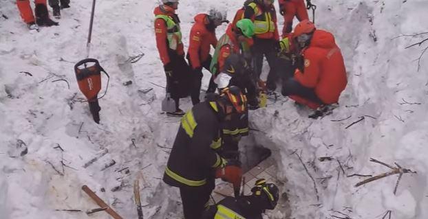 Rigopiano: salgono a 24 i morti ritrovati. Deceduti sul colpo