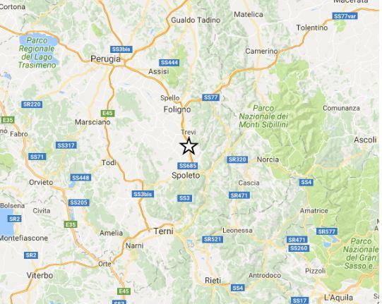 Forte terremoto scuote e spaventa Spoleto