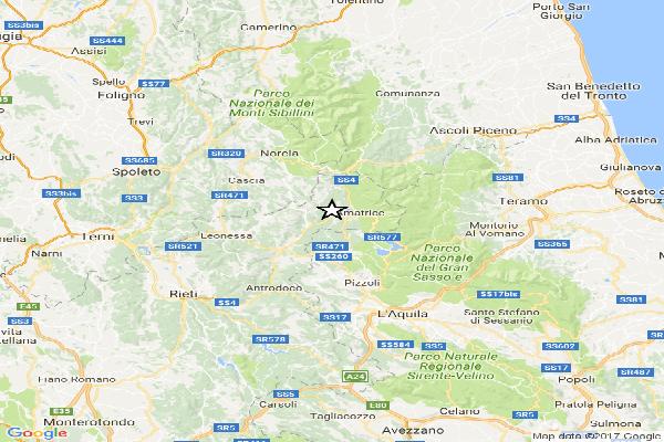 Terremoto  tra Rieti e Amatrice
