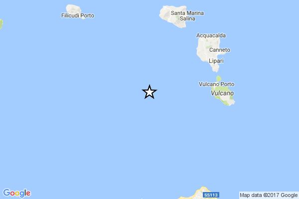 Sicilia: forte terremoto nel mare delle Eolie