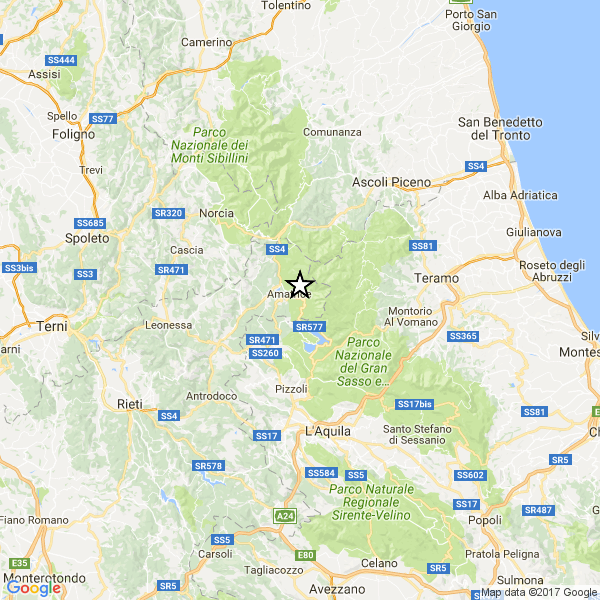 Nuova scossa di terremoto ad Amatrice