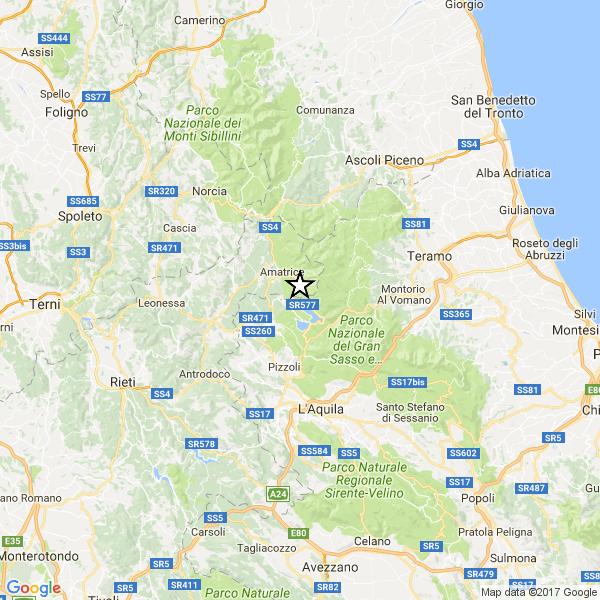 Terremoto di 4.1 in provincia dell'Aquila e ad Amatrice
