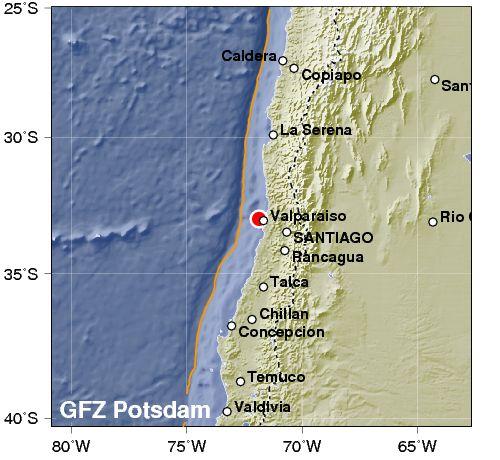 Paura in Cile: violento terremoto. Intensità 6.8.