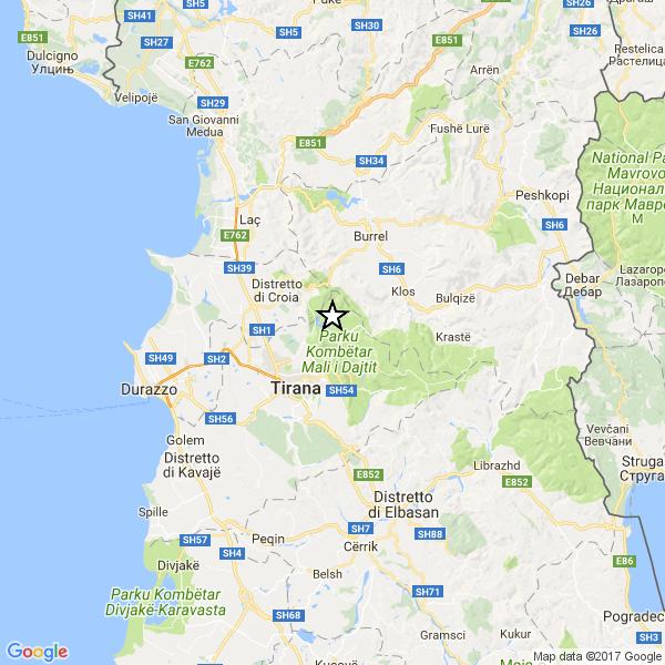 Terremoto in Albania: 3.6