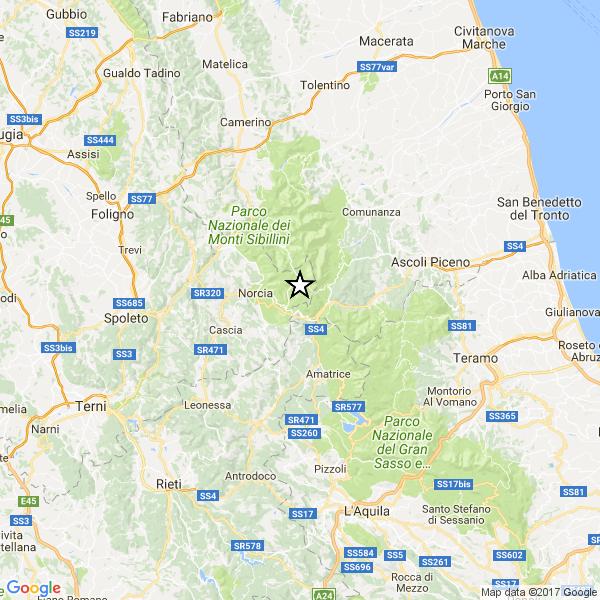 Terremoto ad Arquata del Tronto ( A P )
