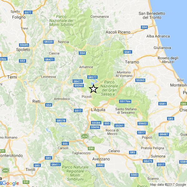 Terremoto spaventa in Abruzzo