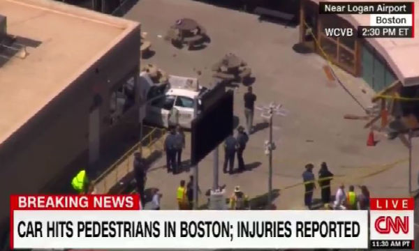 Usa. Auto sulla folla all'aeroporto di Boston. Molti travolti
