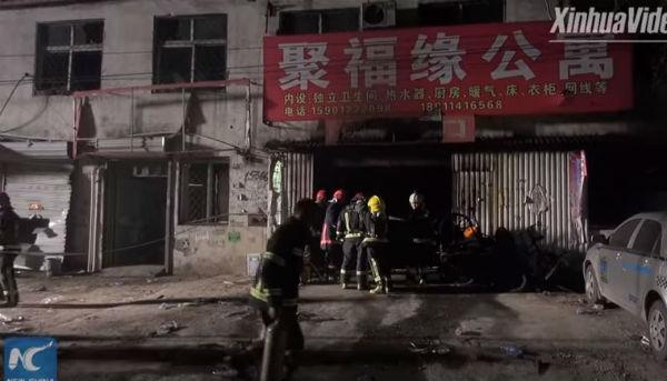 Cina: incendio a Pechino. 19 morti in una pensione