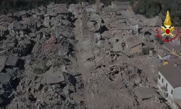 Forte terremoto ad Amatrice