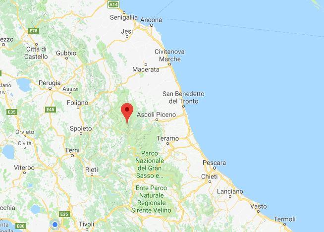 Terremoto: sciame sismico nella notte tra Amatrice ed Arquata del Tronto