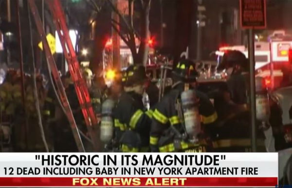 New York: 23 morti per incendio nel Bronx