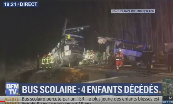Francia: treno investe scuolabus al passaggio a livello, 3 morti