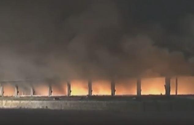Incendio nel Pavese: rischio ambientale e per le persone