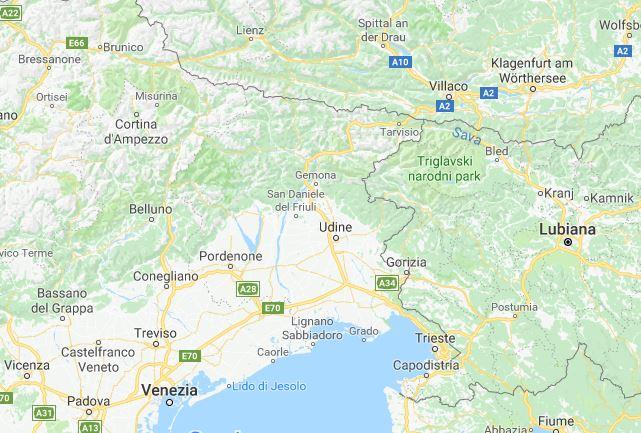 Terremoto vicino Udine: 3.8