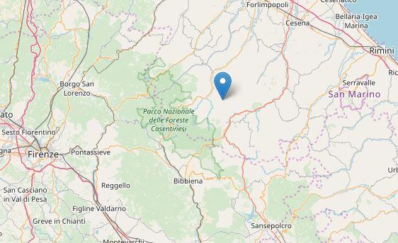Terremoto 3.9 in Romagna. Avvertito anche a Firenze