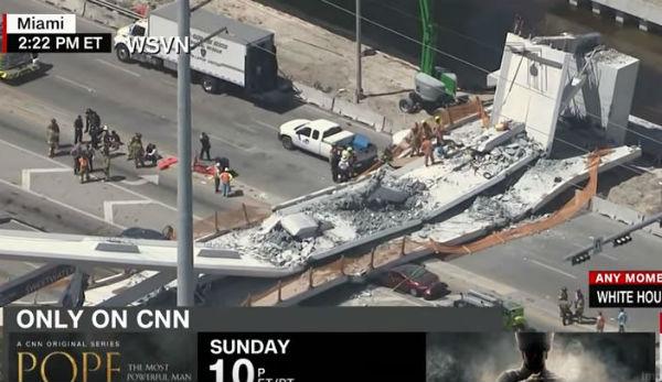 Miami: crolla ponte su vetture. Tra i sei e i 10 morti