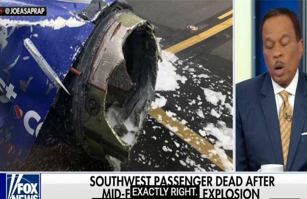 Usa: esplode motore aereo. Una donna morta. Un'altra risucchiata fuori