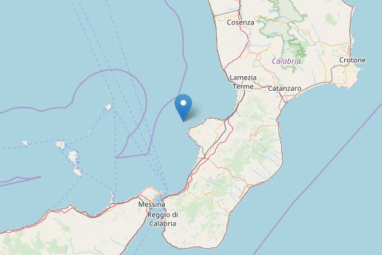 Terremoto: forte scossa in Calabria