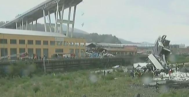 Disastro Genova. Crolla ponte dell'autostrada. Ci sono morti