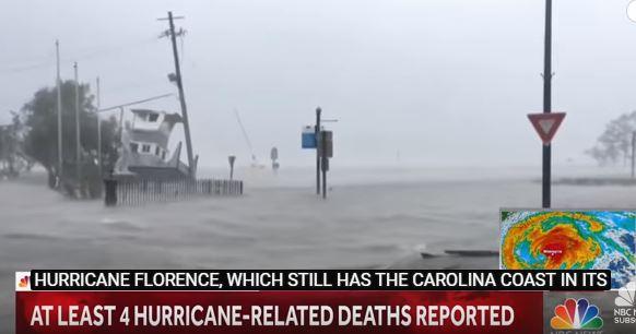 L' uragano Florence ha già fatto 4 morti